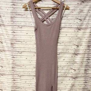 Missguided Ribbed bodycon midi dress
